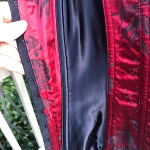 Victoria's Secret Intimates & Sleepwear - Victoria's Secret Red Black Satiny Corset Bustier